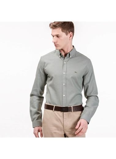 Lacoste Slim Fit Uzun Kollu Gömlek Yeşil